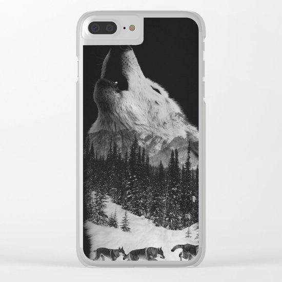 Howling Wolf Clear iPhone Case