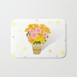 Bouquet of asters Bath Mat