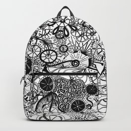 Growth in 3 Directions - Black and White Backpack