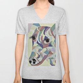 Smooth Fox Terrier Denim Colors Unisex V-Neck