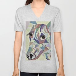 Smooth Fox Terrier Denim Colors Unisex V-Neck