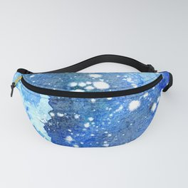 Watercolor abstract night sky Fanny Pack