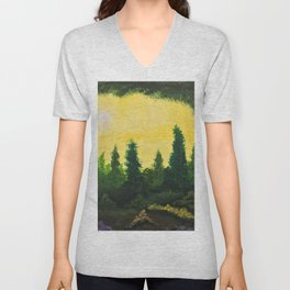 The secluded forest Unisex V-Neck