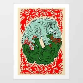 Beast Feast Art Print