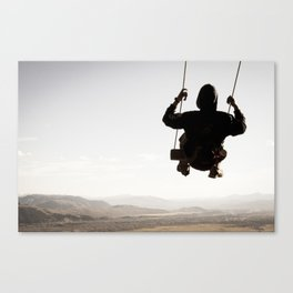 Swing Above The Mountains Canvas Print
