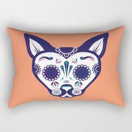Day of the Dead Cat Rectangular Pillow