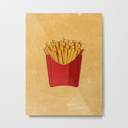 FAST FOOD / Fries Metal Print