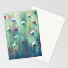 Dancing Field of Flowers Stationery Cards