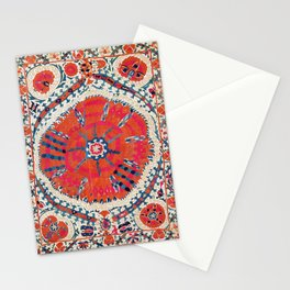 Large Medallion Suzani Bokhara Uzbekistan Embroidery Print Stationery Cards