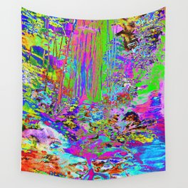 It's All Too Beautiful - Psychedelic Stream Wall Tapestry