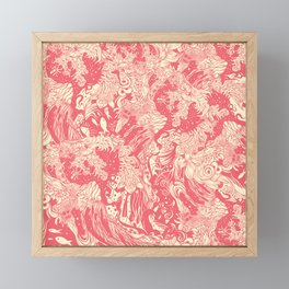 Big wave soft Framed Mini Art Print