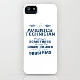 Avionics Technician iPhone Case