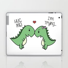 Sad T-Rex Love Laptop & iPad Skin