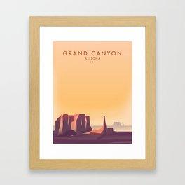 Arizona, Grand Canyon, USA travel poster Framed Art Print