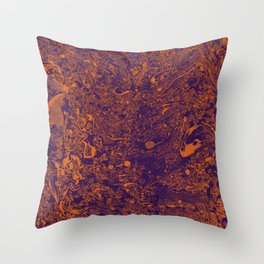 Violet orange abstraction Throw Pillow