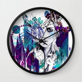 Tribal Girl - Colourway - Wall Clock