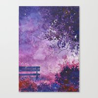 fireflies Canvas Prints featuring Fireflies by Averin Art