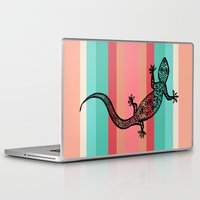 southwest Laptop & iPad Skins featuring Southwest Gecko by Lisa Argyropoulos