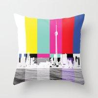 toronto Throw Pillows featuring Toronto by Shazia Ahmad