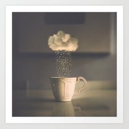 Rainy Days by Omerika Art Print
