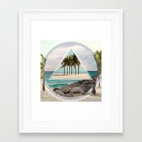miami Framed Art Prints featuring Miami by Wesley Bird