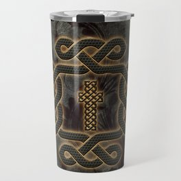 Decorative celtic knot, vintage design Travel Mug