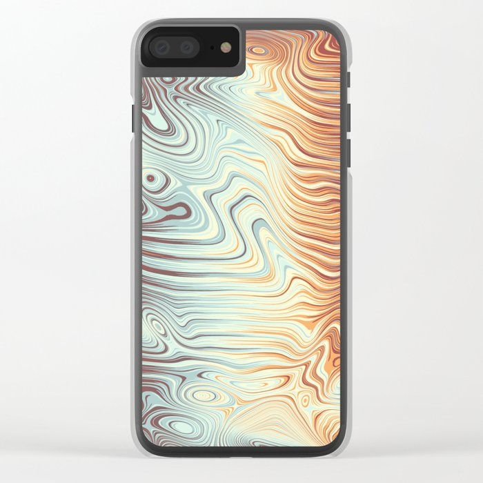 Abstract 358 Clear iPhone Case