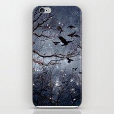 Woodland Crows And Bursting Stars iPhone Skin
