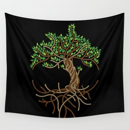 Rope Tree of Life. Rope Dojo 2017 black background Wall Tapestry
