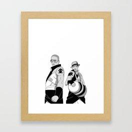Kinkaku Boi and Ginkaku 3000 Framed Art Print