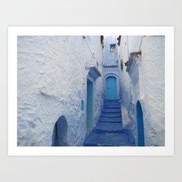 Moroccan Blues Art Print