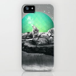 Echoes of a Lullaby / Geometric Moon iPhone Case