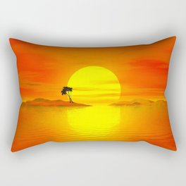 Island of the sun Rectangular Pillow