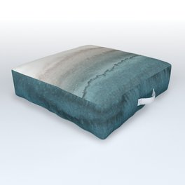 WITHIN THE TIDES - CRASHING WAVES TEAL Outdoor Floor Cushion