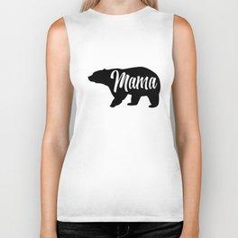 Womens Mama Bear Funny pig Biker Tank