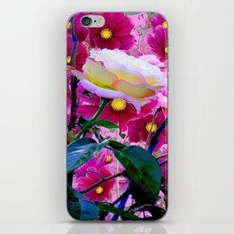 YELLOW ROSE GARDEN BEAUTY & PINK COSMOS iPhone Skin