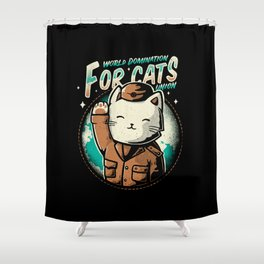 World Domination For Cats Union Shower Curtain