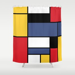 Abstraction color Shower Curtain