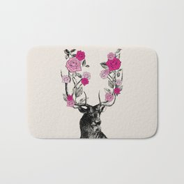 The Stag and Roses   Pink Bath Mat
