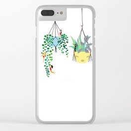 2 plants in hangers Clear iPhone Case