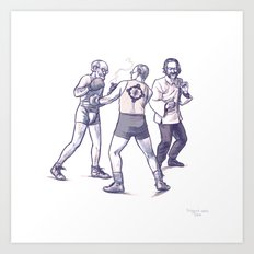 Freud, Jung, and Watts, walk into a bar... Art Print