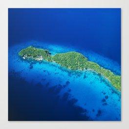 Romantic, Secret Island in Palau: Heaven's View Canvas Print