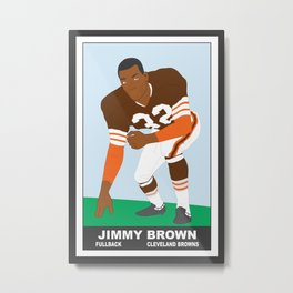 Browns - Jim Brown - 1961 (Vector Art) Metal Print