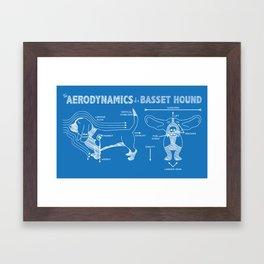 The Aerodynamics of a Basset Hound Framed Art Print