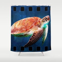 Turtle Ship Shower Curtain