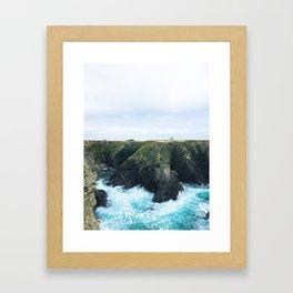 08. On cliff, Bretagne, france Framed Art Print