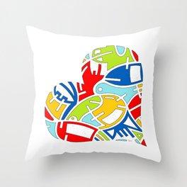Heart (7) Throw Pillow