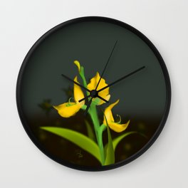 Yellow Fabaceae Wall Clock