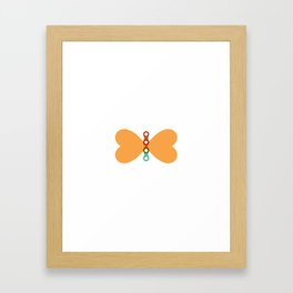 Butterfly Chain Framed Art Print