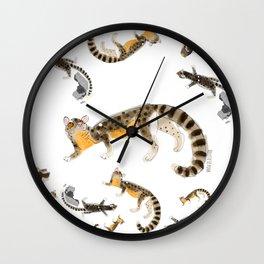 Nandinia Pattern (c) 2017 Wall Clock